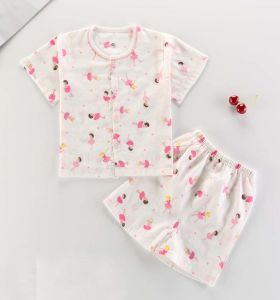 New Fashion Kids Pajamas Short Sleeve Suit Children Underwear Baby Clothes pictures & photos
