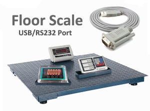 1.0m*1.0m Pan Size 1t Digital Floor Scale for Weighing pictures & photos