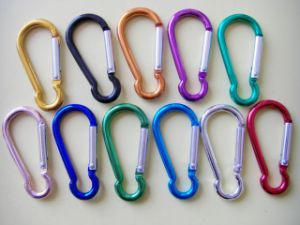 Colorful D-Shaped Aluminum Carabiner Clip pictures & photos