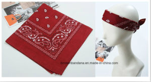 Factory Produce Custom Logo Printed Cotton Paisley Big Handkerchief pictures & photos
