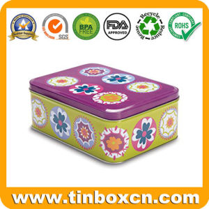 Round Tin Box for Kids, Metal Tin Biscuit Cookie Can pictures & photos