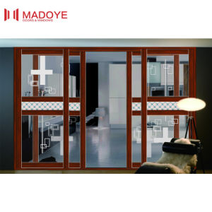 Simple Design Aluminum Slding Door with Double Glass pictures & photos
