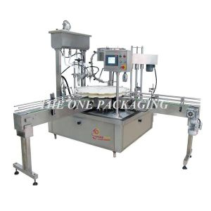 Automatic Time Control Monoblock Cream Filling and Capping Machine pictures & photos