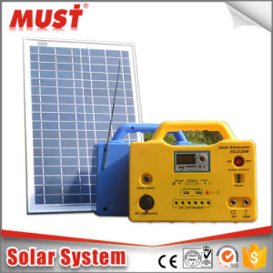 30W 18V Small Solar System for Outside LED pictures & photos