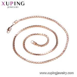 44148 Elegant Gold-Plated Jewelry Necklace 50-55cm Length Chian for Women pictures & photos