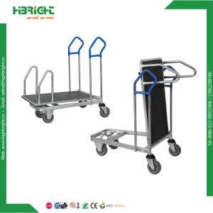 Supermarket Metal Logistic Foldable Warehouse Trolley Platform Cart pictures & photos