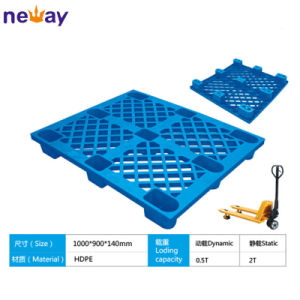Single Face 4 Way Entry Grid Nine Feet Plastic Pallets 1000*900mm pictures & photos