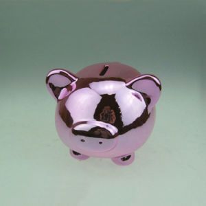 Multicolor Electroplating Ceramic Pig Piggy Bank for Home Decoration pictures & photos