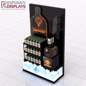 Fashion Design Metal and Acrylic Wine Bottle Display Stands pictures & photos