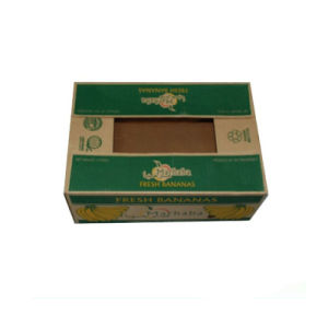 Custom Corrugated Paper Banana Packaging Box with Hole pictures & photos
