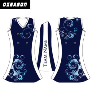 Hot Sale Cusotm Made 100% Polyester Women′s Netball Dresses (N006) pictures & photos