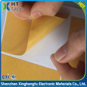 Yellow Glassine Liner Pet Double Sided Tape pictures & photos