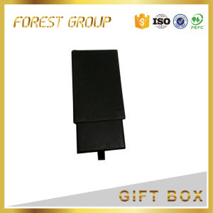Matte Black Drawer Gift Box with Ribbon pictures & photos