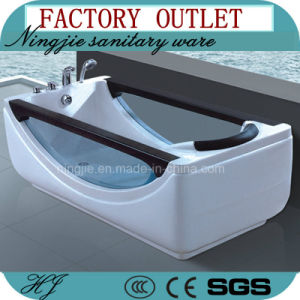 Foshan Factory Direct Sales Acrylic Bathtub with Jacuzzi (505) pictures & photos