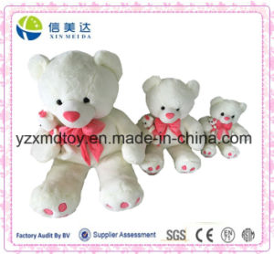 Simple White Plush Mom Bear with Cute Small Bear Toy pictures & photos
