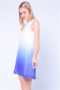 Textured Ombre Dye Print Beach Tank Dress pictures & photos