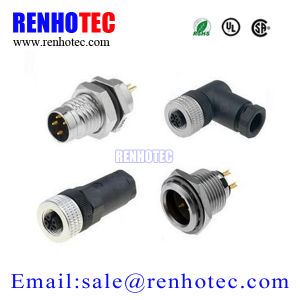 M12 Connector, Male or Female, 2to8pin (RH-IO-0010) pictures & photos