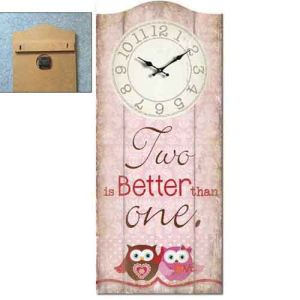 Wood Wall Plaque with Clock - Two Better pictures & photos