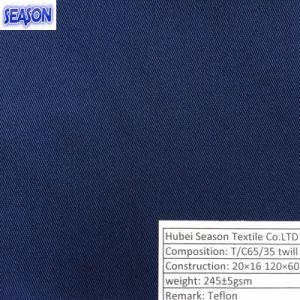 T/C65/35 20*16 120*60 245GSM Waterproof Oil-Resistant Dirt-Resistant Teflon Fabric Functional Textile pictures & photos