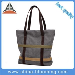 Fashion Wholesale Custom Cotton Tote Women Handbag Canvas Bag pictures & photos