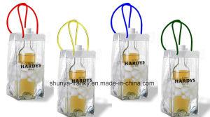 PVC Ice Bag Handle Bag PVC Wine Bag pictures & photos