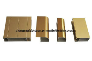 Golden Anodize Aluminium Alloy Extrusion Profile for Door and Window pictures & photos