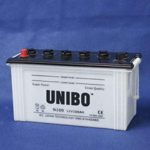 High Performance JIS Standard Dry Charged N100 12V100ah Car Battery pictures & photos