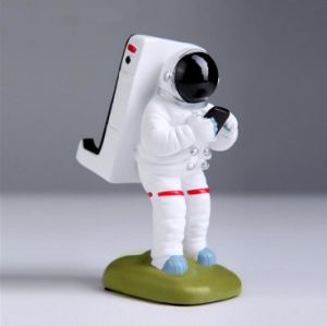 Resin Cartoon Astronaut Shape Desktop Plastic Mobile Phone Holder pictures & photos