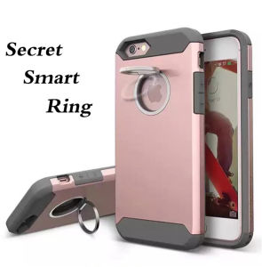 Plastic Silicone Combo Phone Case with Stealth Ring for iPhone7/7puls Mobile Phone Case (XSEH-021)