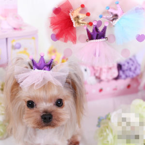 Design Royal Princess Dog Hairclip Pet Hair Beauty Hairpin pictures & photos