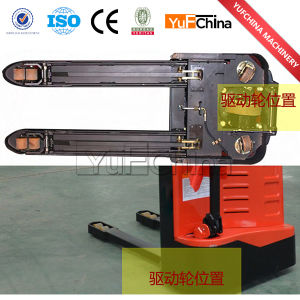 Electric Pallet Stacker with Forklift Clamp pictures & photos