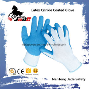 10g Cotton Palm Latex Crinkle Coated Work Glove pictures & photos