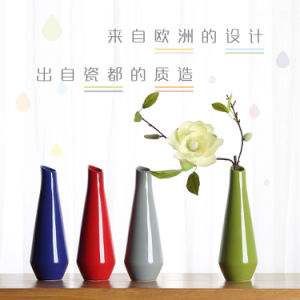 Wedding Ornaments Geometric Drop Shape Ceramics Vase Home Decoration Furnishing Flower Bottles Crafts Jardiniere pictures & photos