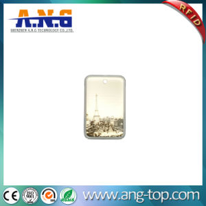 RFID Proximity Resin Coated Key Card Crystal Epoxy ID Tag pictures & photos