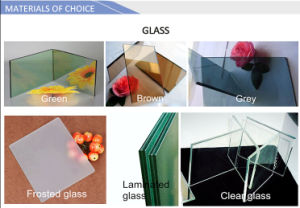 Wooden Color Aluminum Sliding Window pictures & photos