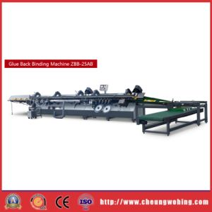 ZBB-25AB New Book Glue Back Binding Machinery for Exercise Book pictures & photos