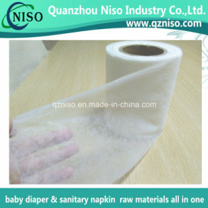 SSS Hydrophilic N. W. Fabric for Baby Diaper Adult Diapers Raw Materials Topsheet Nonwoven pictures & photos