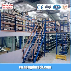 Multi-Level Shelf Metal Attic Shelves with Ladders for Storehouse pictures & photos