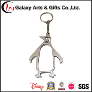 Souvenir Series Keychains Badge Shaped Promotional Metal Hollow Penguin Wholesale Alloy Key Chain
