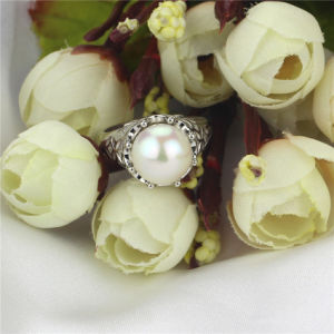 11-12mm AAA Grade 925 Sterling Silver Cultured Freshwater Pearl Ring Design pictures & photos