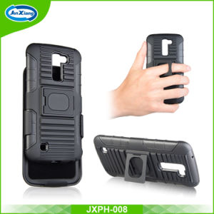 3 in 1 Combo Hybrid Hard Case with Kickstand and Belt Clip for LG K4 pictures & photos