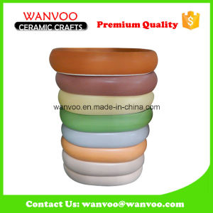Newly Wholaslecolor Glazing Ceramic Soap Dish of Tray Shape pictures & photos