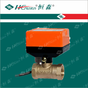 D Q F-C2 Brass Motorized Ball Valve with Actuator/Motorized Ball Valve/Brass Ball Valve/Electric Ball Valve/Water Ball Valve/Zone Valve D N15, D N20, D N25 pictures & photos