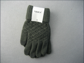 10g Polyester Liner Diamond-Shaped Fashion Glove-F3104 pictures & photos