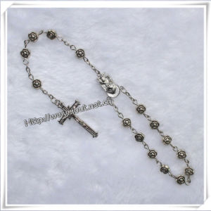 White Plastic Beads Religious Car Rosary Bracelet (IO-CB017) pictures & photos