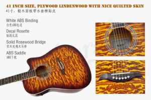 41 Inch High Quality Color Cutway Acoustic Electrical Guitar Sg028cae pictures & photos