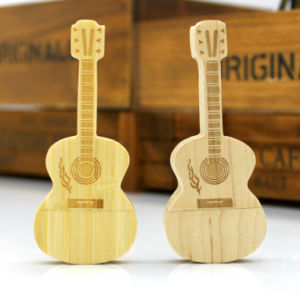 New Fashion Guitar Shape USB Flash Drive Stick Wooden Pendrives as Promotional Gifts to Customers pictures & photos