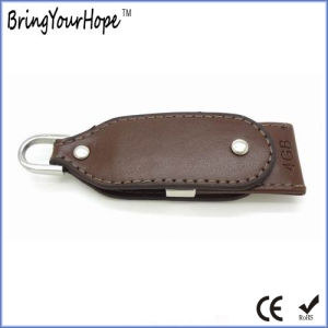 4GB Rotating Leather USB Pen Drive (XH-USB-008) pictures & photos