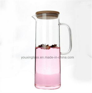 1.5L Clear Glass Water Jug with Side Handle and Lid for Cold Drinks/Glass Water Pitcher/Cold Water Pitcher/Fruit Juice Pot of Cold Water Pot