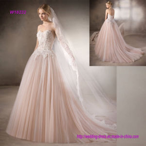 Beautiful Strapless Sweetheart Ball Gown Wedding Dress pictures & photos